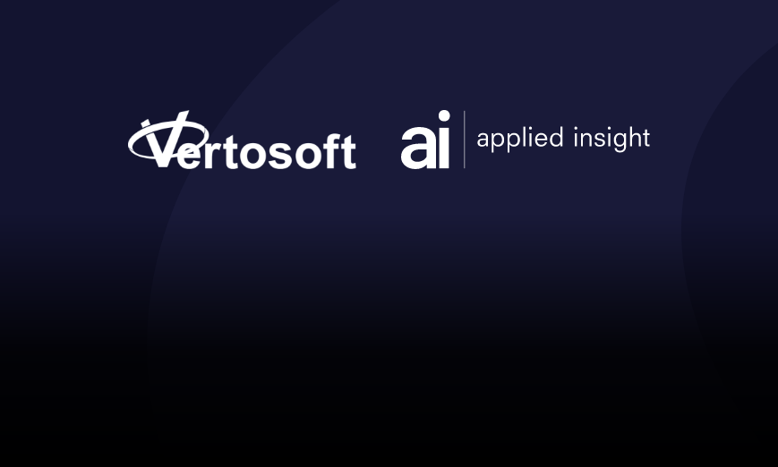 Applied Insight partners with Vertosoft to expand distribution of Altitude™ and SHIFT™ cloud solutions to federal customers