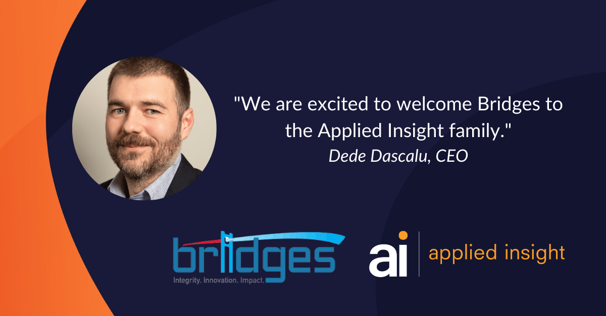 Applied Insight Acquires Bridges Inc., Intelligence Community Technology Firm