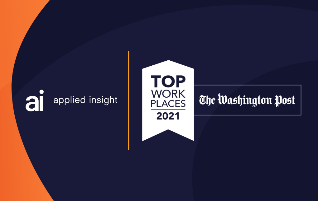 Applied Insight Named a 2021 Top Workplace by Washington Post