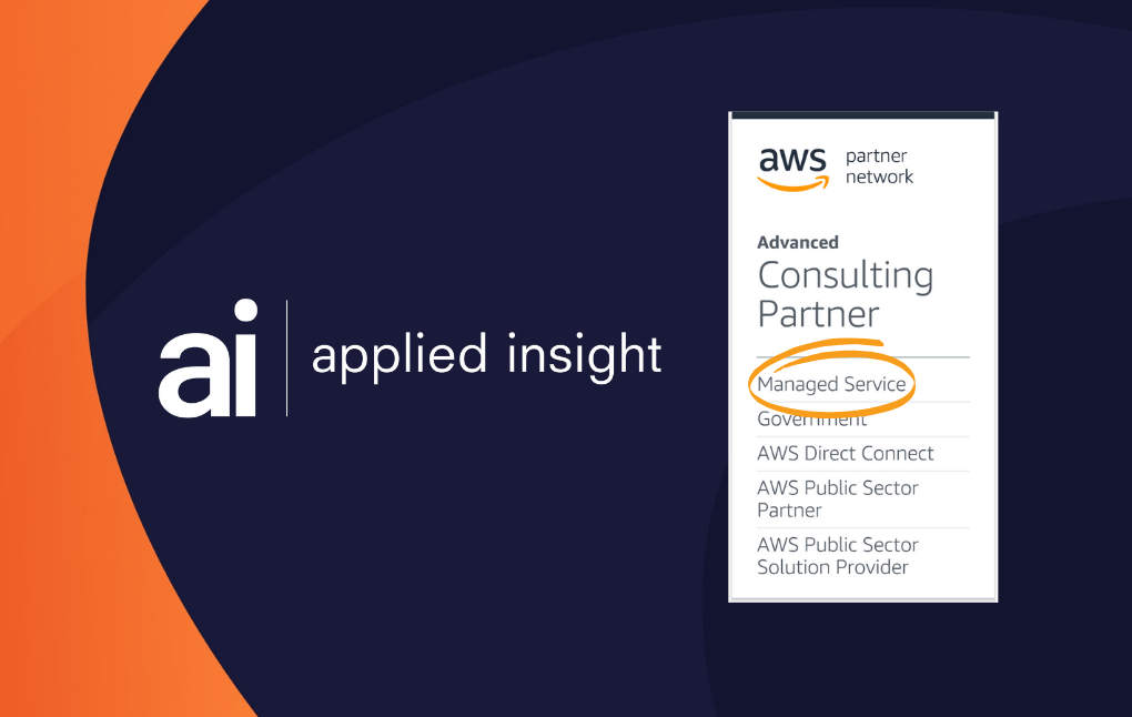 Applied Insight Achieves AWS Managed Service Provider Designation