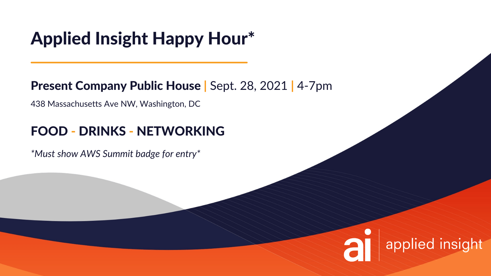 Applied Insight Happy Hour at AWS Summit, DC
