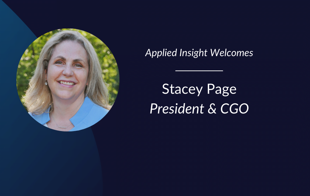 Applied Insight Appoints Stacey Page as President and Chief Growth Officer to Position Company for Next Phase of Growth